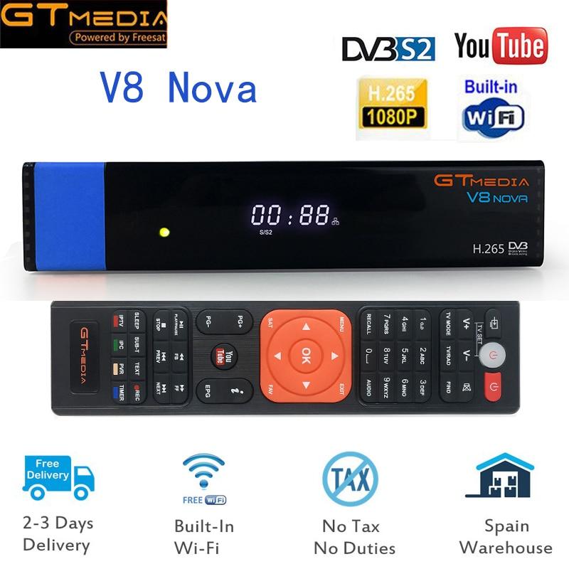 New 1PC Gtmedia V8 NOVA Blue Support H.265 Better freesat V8 super V9 super DVB S2 Satellite Receiver Builtin Wifi Set Top Box fb specialist 46b24r super nova 45ач 330а пр