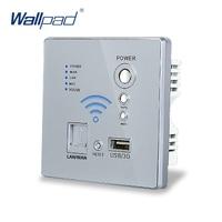 Free Shipping USB Socket 110 250V Wireless WIFI USB Charging Socket Wall Embedded Wireless AP Router