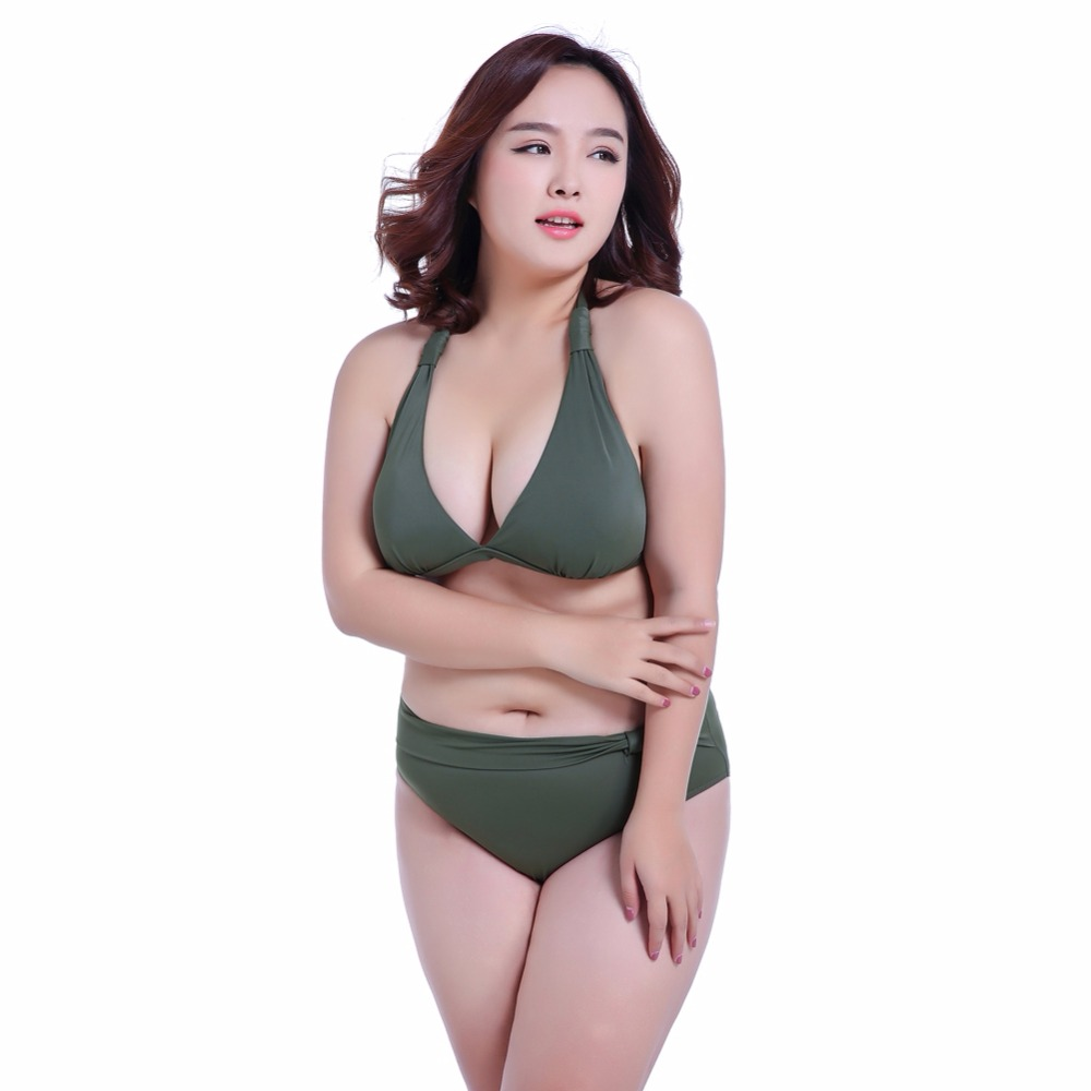 New large size swimsuit female fat M260 pounds swimsuit big breasted EFGH cups gather sexy thin bikini swimsuit 2018 limited korean national small fragrant spa chest sexy blouse gather cover belly thin bikinis four piece female swimsuit