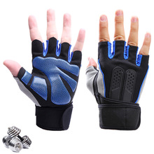 High Quality Sports Gym Gloves Wrist Weights Fitness Men Gloves Half Finger Breathable Anti-skid Silica Women Gloves