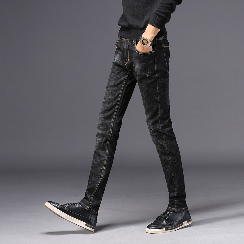 Hot Sale basic classic Mens Casual skinny jeans men washed stretch denim good quality Slim Fit Jeans For mans 851