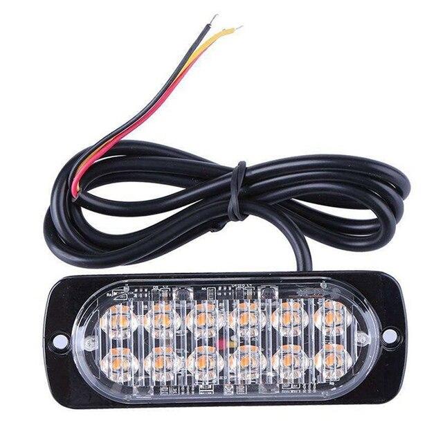 Ultra thin LED High Power 12W Police Lights 12V 24V 12 LED Car Truck ...