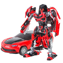 KBB Transformation White Red Yellow Bumble Warrior Alloy Police Model Alloy Metal Action Figure Voyager Children Boy Robot Toys