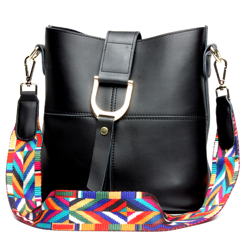 New Women Black Leather Handbags Zipper Buckle Fashion Shopping Crossbody Bags For Ladies Online Womens Casual Shoulder Bag women new handbags strap leather fashion red buckle crossbody bag straps new wide belt bags parts replacement classic style