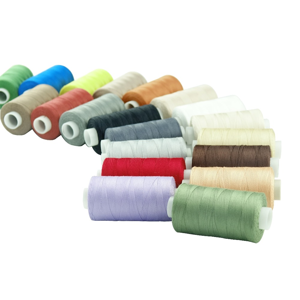 20 Multi Colors 100% Mercerized Long Staple Cotton Sewing Thread Set 50s/3 For Quilting Sewing Piecing Etc - 550 Yards Each