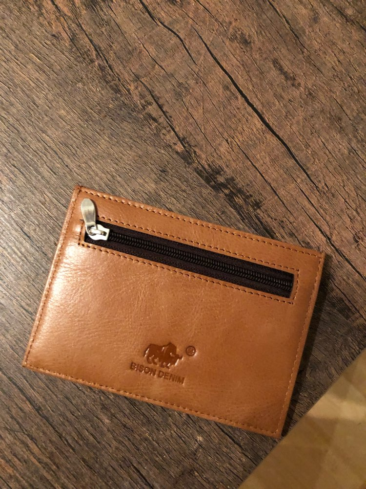 BISON DENIM genuine leather guarantee retro design Coin Purses men credit card holder Vintage pocket  mini small wallets 9309 photo review