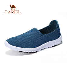 Shoes Walking Slip-On Outdoor Summer Casual Women Knit CAMEL Soft Breathable Spring Upper