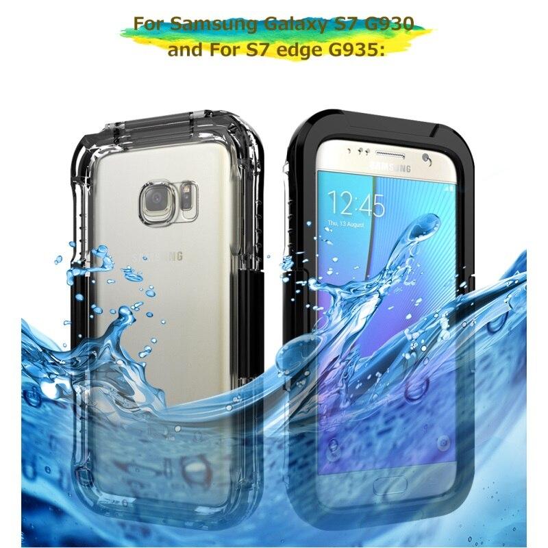 imágenes para Carátulas estancas para Samsung Galaxy S7 G930 Caso A Prueba de Polvo 10 M Impermeable Cubierta Del Teléfono de Shell para la Galaxia S 7 Borde de buceo Bolsa de Pacas