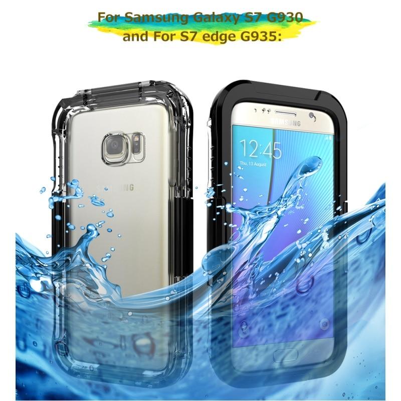 bilder für Wasserdicht Fällen für Samsung Galaxy S7 G930 Fall Staubdicht 10 Mt Wasserdicht tauchen Shell für Galaxy S 7 Rand Beutel Capas