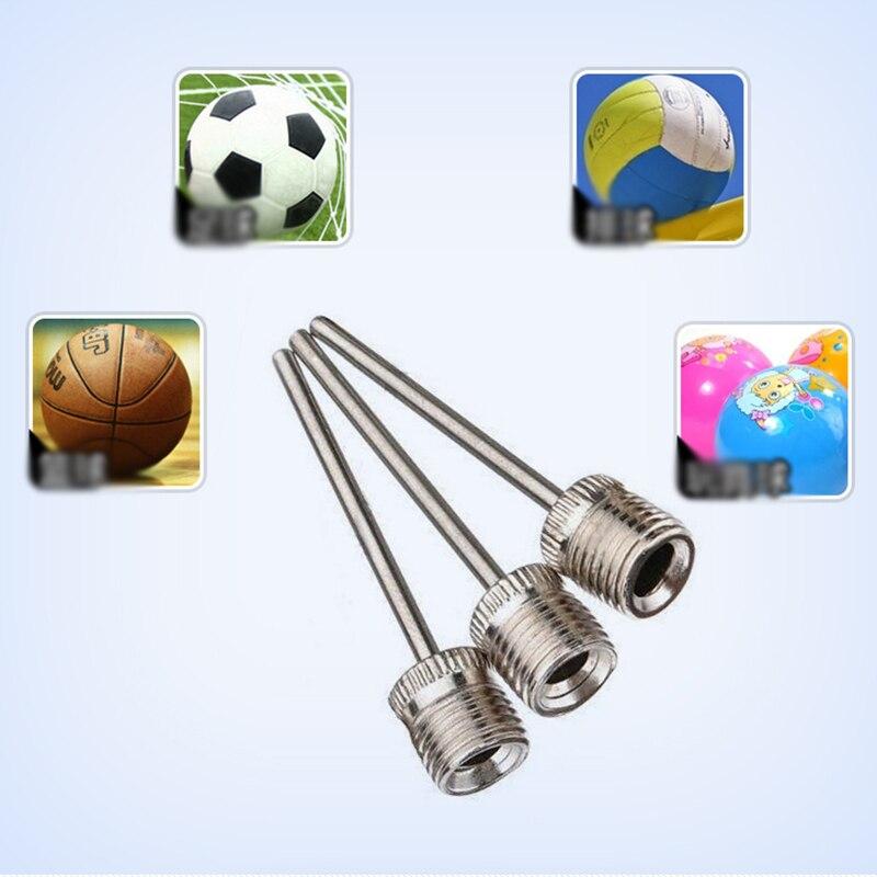 10 шт., спортивный мяч, насос для накачивания, игла для футбола, баскетбола, футбола, надувной воздушный клапан, адаптер, нержавеющая сталь, насос, штифт