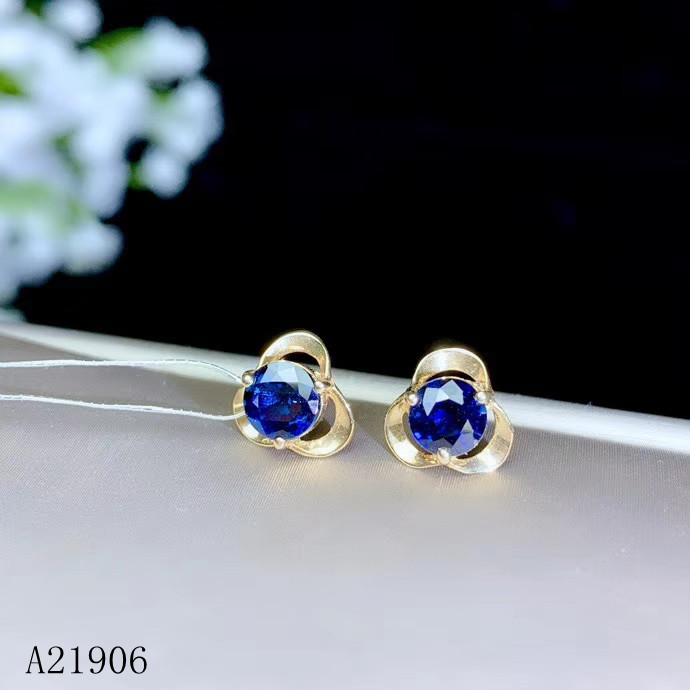 KJJEAXCMY Fine Jewelry 18K yellow gold inlaid natural sapphire female earrings support re-examinationKJJEAXCMY Fine Jewelry 18K yellow gold inlaid natural sapphire female earrings support re-examination