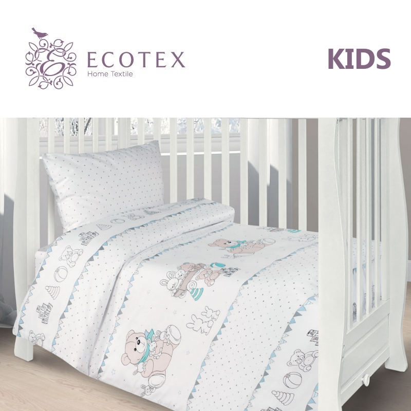 Фото - Baby bedding Teddy & Co,100% Cotton. Beautiful, Bedding Set from Russia, excellent quality. Produced by the company Ecotex flower print bedding set