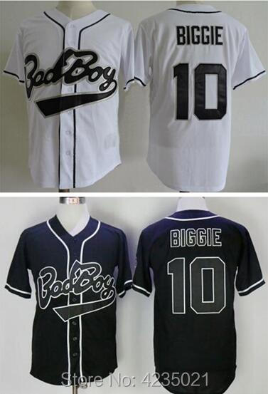 4c760fc44e4f Dwayne Mens Bad Boy Biggie Smalls 10 Baseball Jersey Black Whtie For Free  Shipping S M L XL XXL XXXL