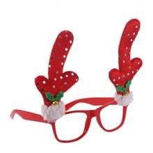 808753371d Christmas Fancy Dress Glasses Frame Reindeer Antler Sunglasses Christmas  Costume Ornaments Party Decoration(China)