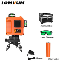 LOMVUM лазерный уровень 12 линий 3D 360 градусов лазерный уровень с базовой линией выравнивания зеленая красная линия indooroutdoor лазерный уровень