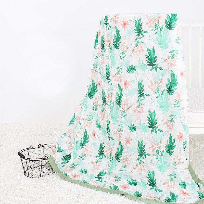 цена Baby Blanket For Newborn Soft Bamboo Fiber Cotton Muslin Swaddle Wrap For Infant Baby Bedding Children Beath Bath Towel 2 Layers