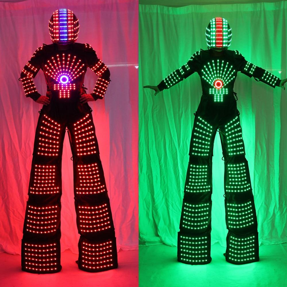 RGB mirgojošs LED kostīms / LED Stilts Walker / Gaismas tērpi / - Svētku piederumi