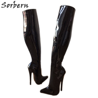 Sorbern Sexy Fetish High Heel Boots Over The Knee Stand Only 60Cm Hard Shaft Customized Large Boots Heels 18Cm Boots Unisex