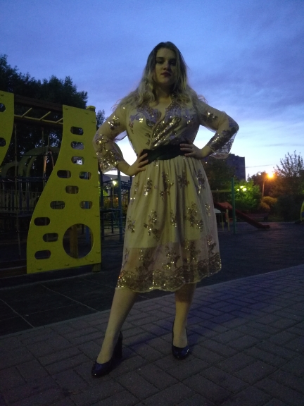 V Neck Long Sleeve Sequined Party Dresses Women Sexy Mesh Streetwear Midi Dress Female Spring Black Dress Vestido photo review