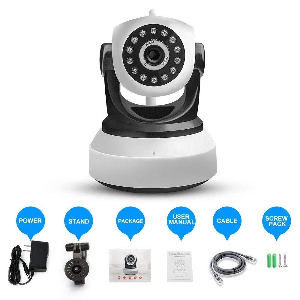 Wireless Security Camera PTZ WiFi IP Camera Indoor Home Surveillance Remote View Motion Detection Night Vision Photo Camera Cam цена