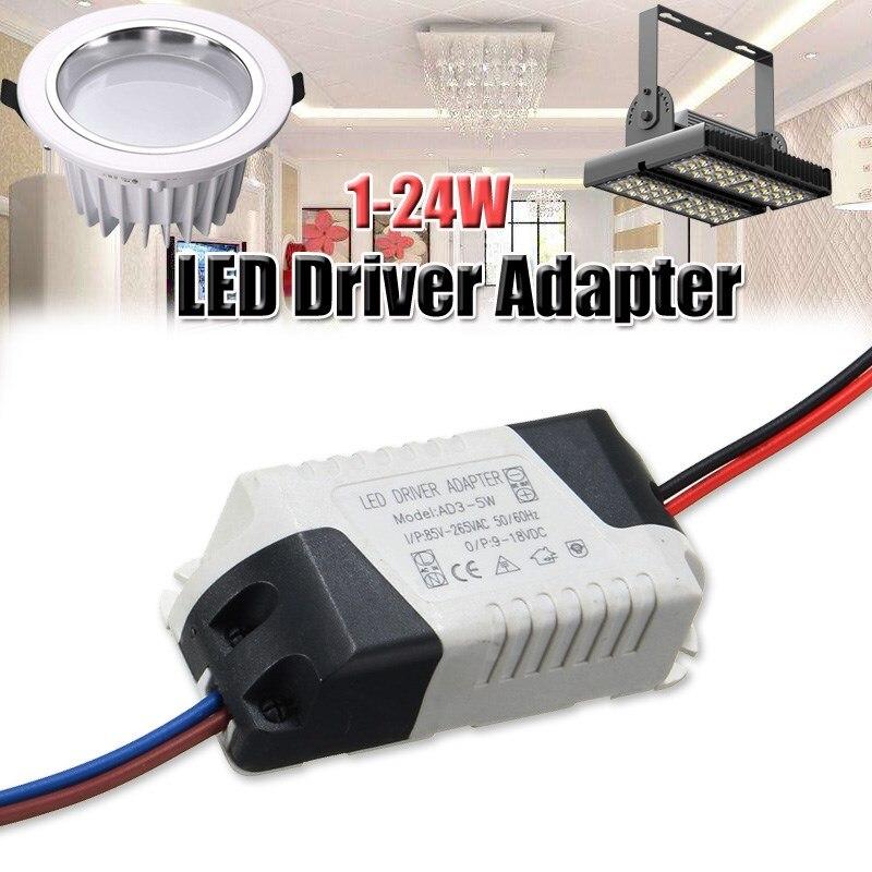 Освещение трансформатор 1-3 Вт 5 Вт 7 Вт 12 Вт 15 Вт 24 Вт светодиодный свет лампы светодиодный адаптер драйвер Питание AC85-265V 300ma