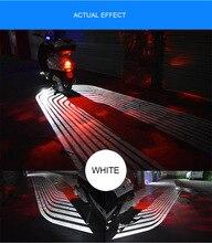 Мотоцикл светодио дный декоративные огни крыло Ангела Добро пожаловать Свет Одеяло сигнала Предупреждение Atmophere лампа Водонепроницаемый светящиеся коврики призрак