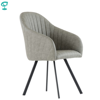 K99L1PuGray Barneo K-99 Eco-Skin Interior lounge chair Kitchen Furniture metal legs Gray free shipping in Russia