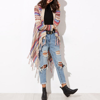 Spring Fashion Women Cardigan Sweater 2017 New Casual Kimono Knitted Cardigans Vintage Loose Sweater Jacket Knitwear