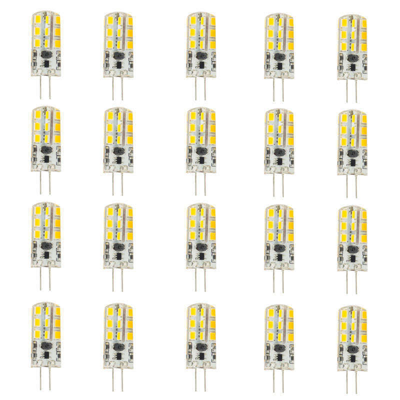 20pcs/lot Led G4 2835 SMD 3W DC 12V G4 24LED Lamp Halogen Lamp G4 Led 12v LED Bulb Lamps Warranty 2Y Lighting Spotlight