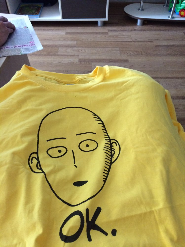 Men's One Punch Man Printed T-Shirt photo review