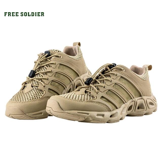 FREE SOLDIER тактические спортивные походные мужские кроссовки с дышащей сеткой