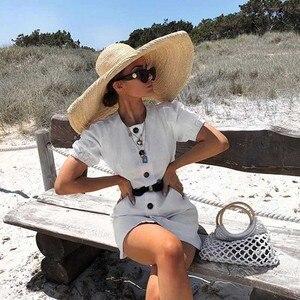 Image 3 - Elegant Natural 25cm Extra Large Raffia Hat Wide Brim Kentucky Derby Hat Women Floppy Summer Beach Hat Big Straw Sun Hat chapeau