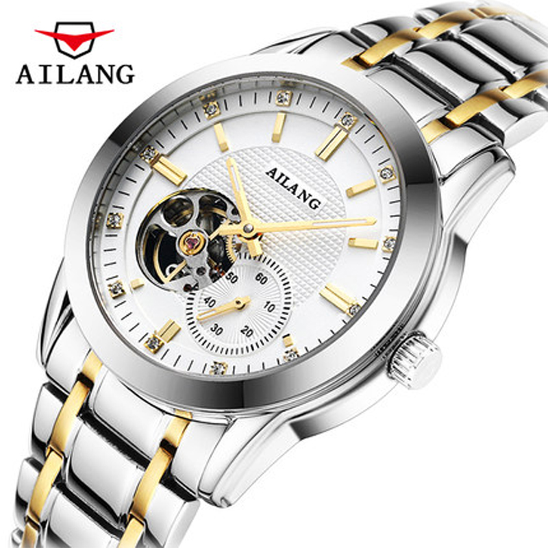 Tungsten steel Tourbillon watch luxury men's mechanical watch brand AILANG sapphire waterproof 100 meters fashion men's watches
