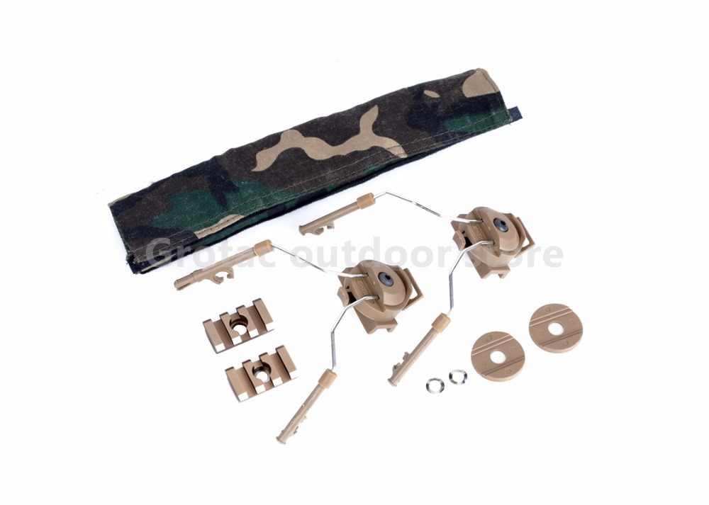 Z-التكتيكية العسكرية peltor comtac سماعة الخوذة الحديدية محول مجموعة ل comtac أنا و comtac ii ميليتار acesorios z046 لل المناورات