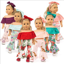 Fit 18 inch Born New Baby 43cm Clothes For Doll Shoulder Suit Handmade Head Flower accessories Gift