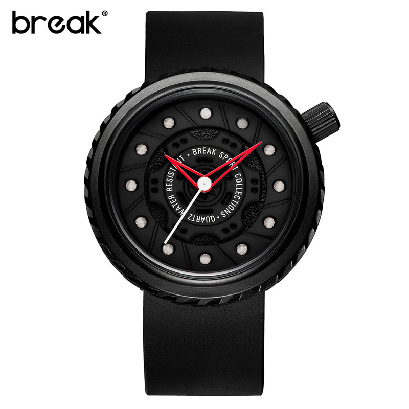Casual Fashion Passion Waterproof Watches Top Luxury Men Sports Watch Rubber Strap Creative Gift Wristwatch for men Simple Clock