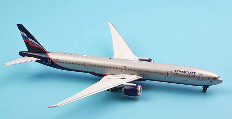 1:400 Scale Aeroflot PH11491 Boeing 777-300ER ,VP-BPG Russian Aircraft Exquisite Simulation Static Metal Model Collection Toy