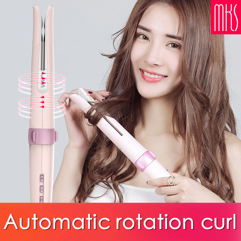 110 240V double automatic curling iron heating hair care styling tools ceramic big wave curling iron magic hair iron hair styler