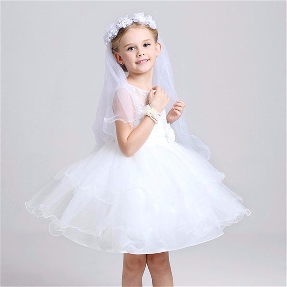 Meisjes eerste communie veils hoofdband witte bloemen krans bruiloft - Babykleding - Foto 4