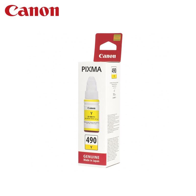 Cartridge Canon GI-490 Y (for G1400/G2400/G3400) принтер g1400