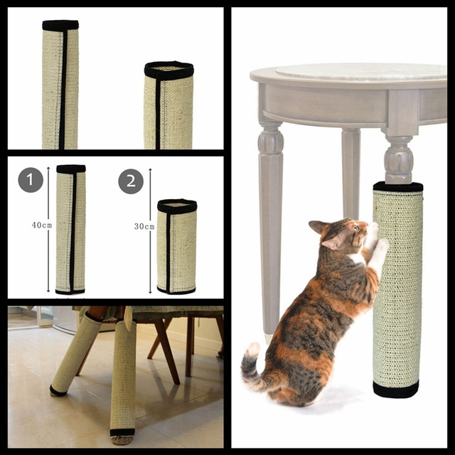 Beau Sisal Cat Scratching Post Toy For Cats Catnip Tower Climbing Tree Cat  Scratch Pad Board Protecting