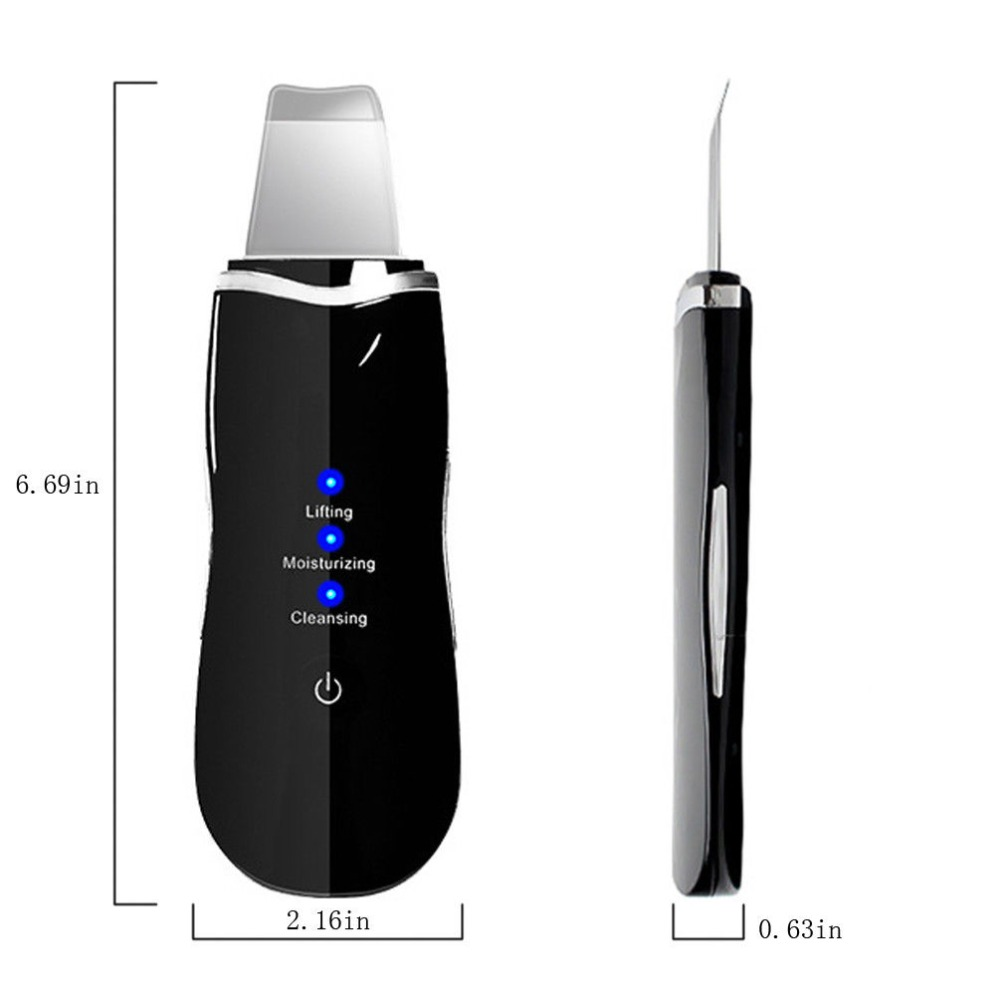 Portable Ultrasonic Skin Cleaner Face Cleaning Acne Removal Spa Beauty Tool Facial Pore Clean Peeling Blackhead Removal in Powered Facial Cleansing Devices from Home Appliances
