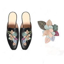 1Piece Rhinestone Flower Pasting Shoe Decoration For Women Shoes Floral Shoe Accessories High Heel Flowers Ornament 3.16*2.34in
