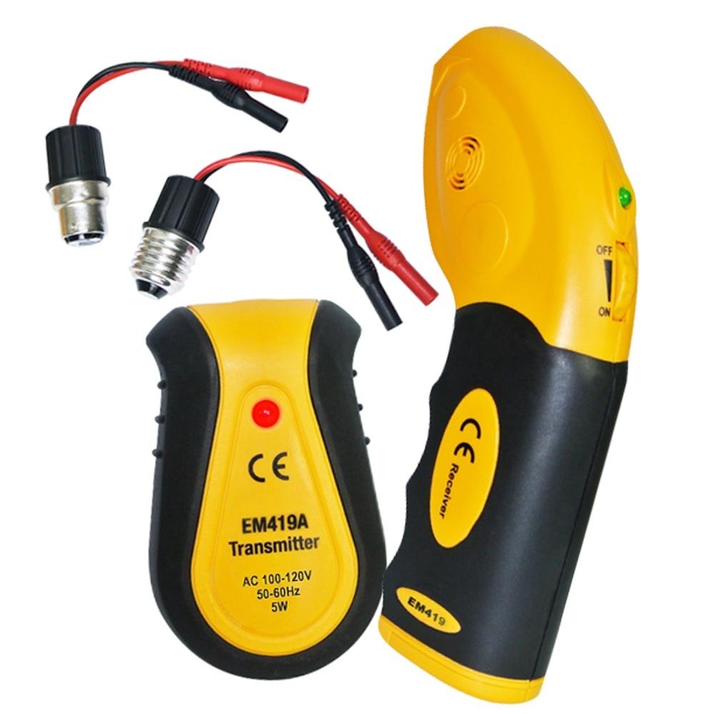 110V Circuit Breaker Receiver Transmitter Electrical Finder Tool Lamp Socket Outlet Adapters