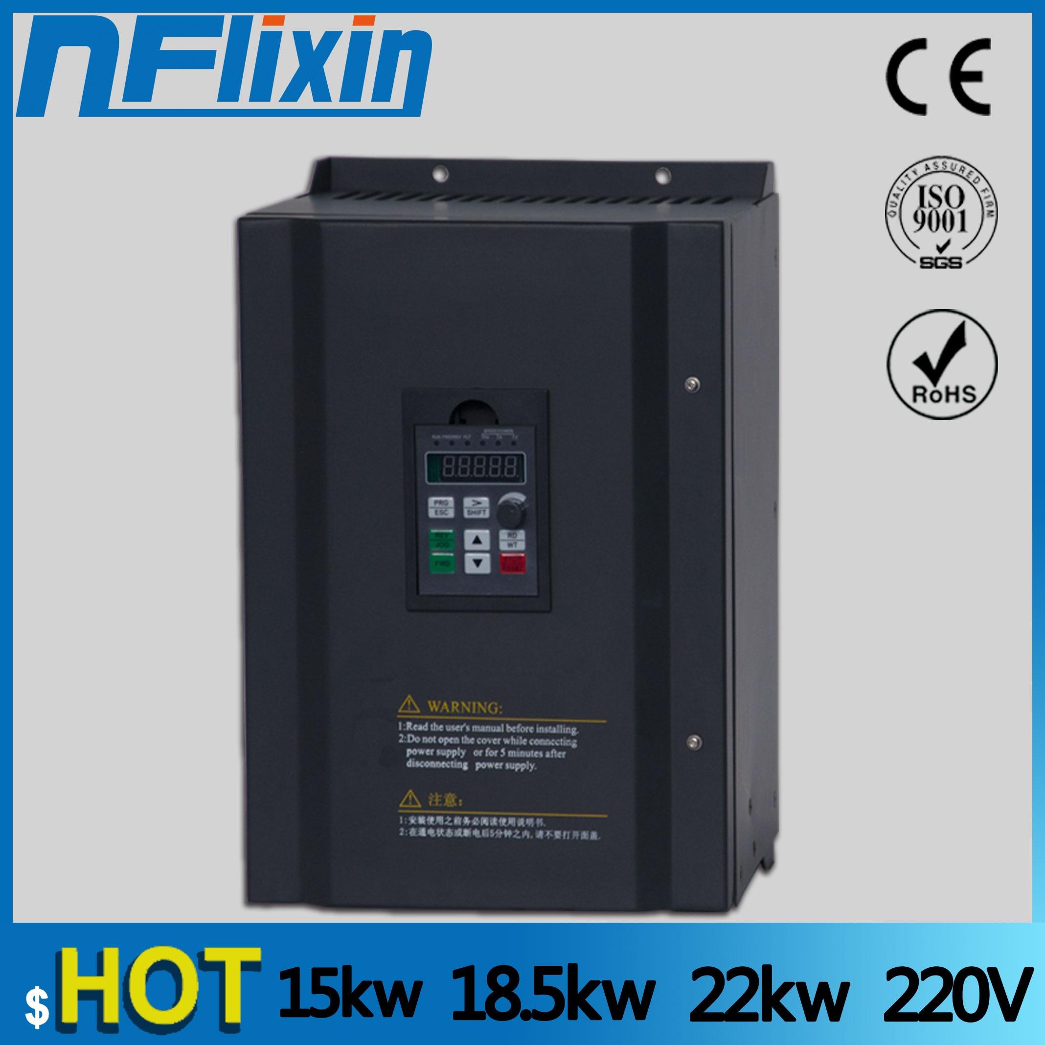 0.75KW/1.5KW/2.2KW/4KW/220 V monophasé inverseur entrée VFD 3 phases sortie convertisseur de fréquence vitesse réglableConduire