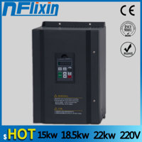 15kw/18.5kw/22kw 220v single phase input 380v 3 phase output AC Frequency Inverter ac drives /frequency converter 220vboost/380v
