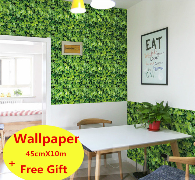 10m self adhesive wallpaper waterproof green grass wallpaper wall