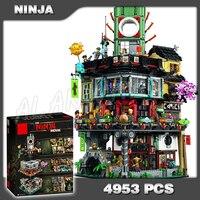 4953 шт. новый ниндзя большой создатель города строительство уличный замок 10727 модель Модульные строительные блоки игрушки совместимы с lego
