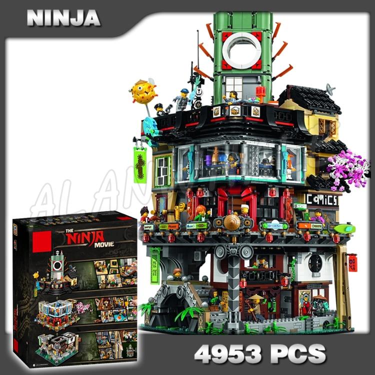 4953 piezas nuevo Ninja gran Creador ciudad construcción calle Castillo 10727 Modelo Modular bloques de construcción juguetes compatibles con lego