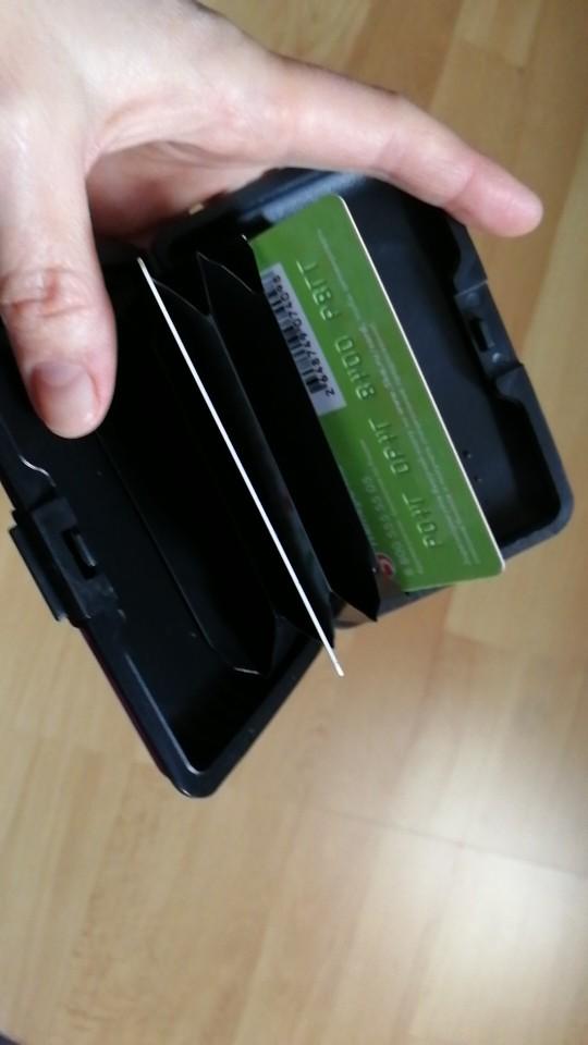 Aluminum Metal Bankcard Blocking Hard Case Wallet Credit Card Anti-RFID Scanning Protect Holder Carteira Feminina Masculina photo review